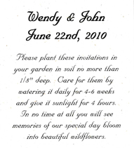 Recycled Planting Directions