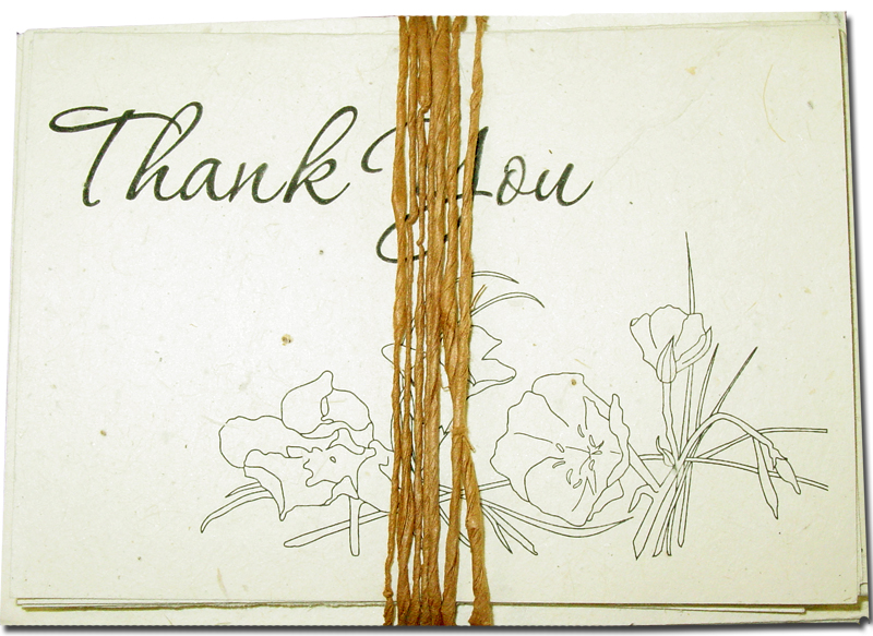 Line Art Thank You : Wildflower line art thank you cards quot