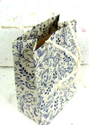 Blue Garden Favor Bag