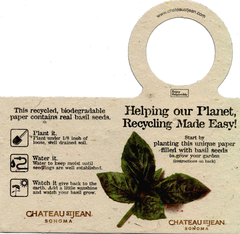 Green Printing on plantable seed paper that blooms when planted