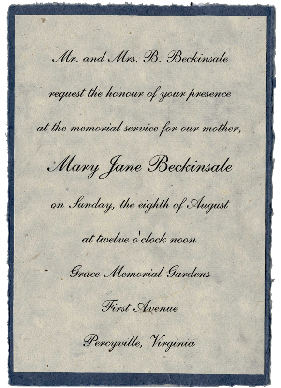funeral reception Quotes